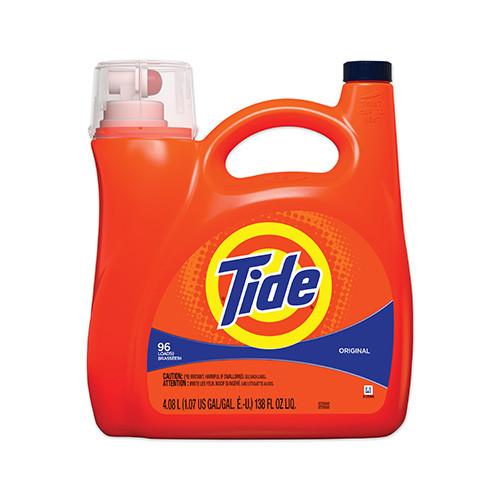 Tide Liquid Laundry Detergent, Pump Bottle, 138 oz (1/Each)