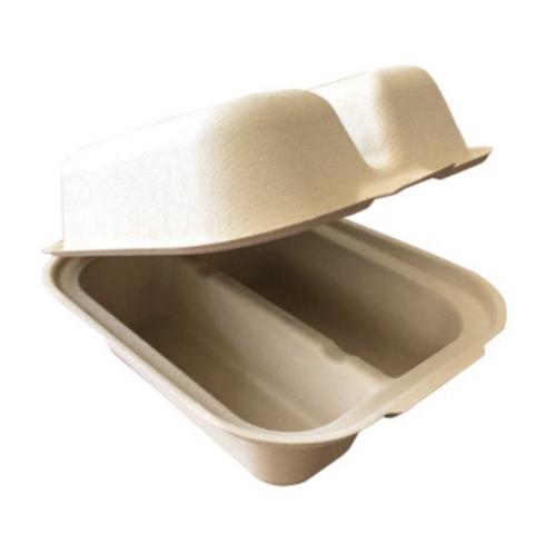 "Fiber Taco Box, 2 Compartment, 7x5.5x3.5"" (300/Case)"