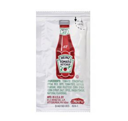Heinz Tomato Ketchup Packets, 7 Gram (750/Case)