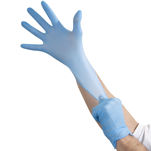 Premium Blue Nitrile Medical/Exam Gloves, 3.5 Mil Powder Free, X-Large, 10 Boxes of 100 (1000/Case)
