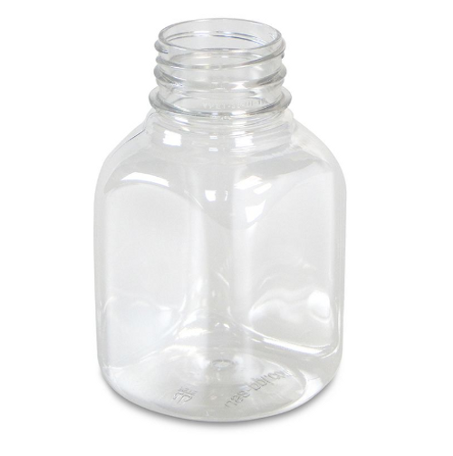 8 oz Clear PET Juice Bottles, 38mm (216/Case) (01430182)