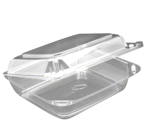 """CBC8X2 Clearboost 8x7x2"""" Clear Hinged Container (150/Case)"""