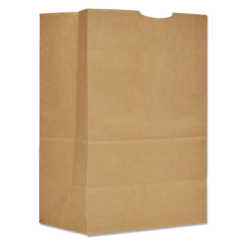 "12x7x17"" 1/6 BBL Grocery Sack, 57# Kraft (250/Bundle)"