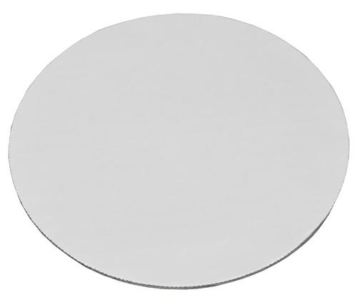 "8"" Round Cake Circle Boards, Corrugated, White (100/Case)"