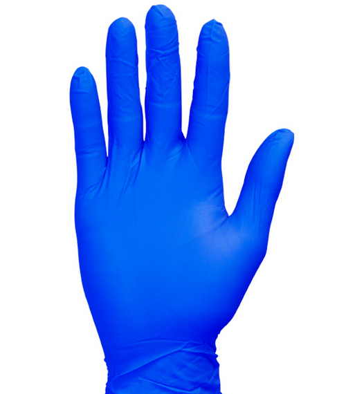 Premium Cool Blue Nitrile Gloves, Flexfit Soft, Powder Free, Large (200/Box)