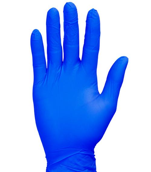Premium Cool Blue Nitrile Gloves, Flexfit Soft, Powder Free, Medium (200/Box)