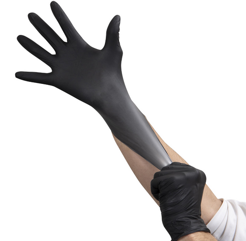 Premium Black Nitrile Gloves, 3.5 Mil Soft, Powder Free, Large (100/Box)