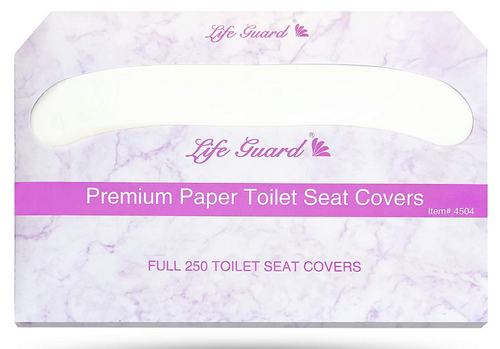 Lifeguard Premium 1/2 Fold Toilet Seat Covers, 20 Packs of 250 (5000/Case)
