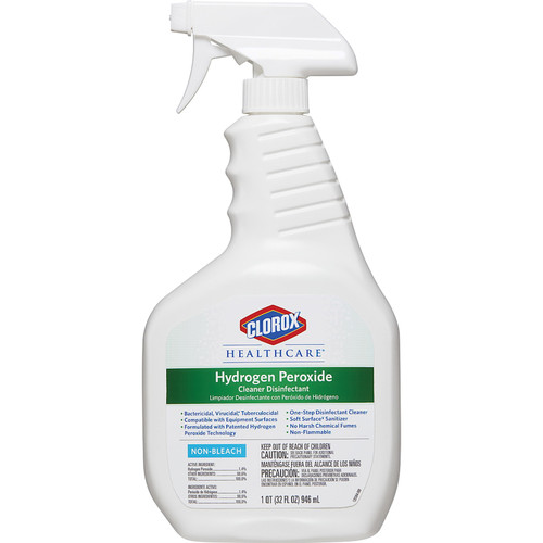 Clorox Healthcare Hydrogen Peroxide Disinfectant Cleaner, 32 oz (9/Case)