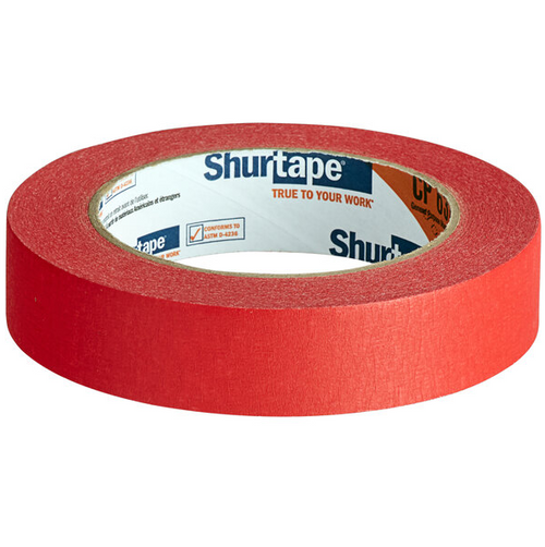 "Shurtape 1""x60 Yard Red Masking Tape (36/Case)"