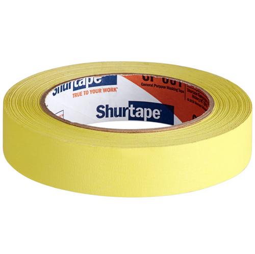 "Shurtape 1""x60 Yard Yellow Masking Tape (36/Case)"