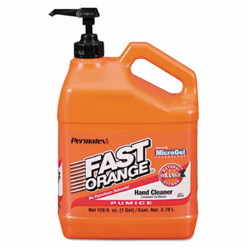 Fast Orange Pumice Lotion Hand Cleaner w/ Natural Citrus & Microgel Technology, 1 Gallon (1/Each)