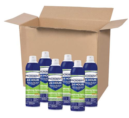 Microban Professional 24 Hour Sanitizing Spray 15 oz Case