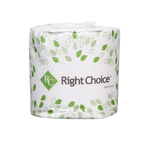Right Choice Bath Tissue, 2 Ply Soft, Chlorine Free (96/Case)
