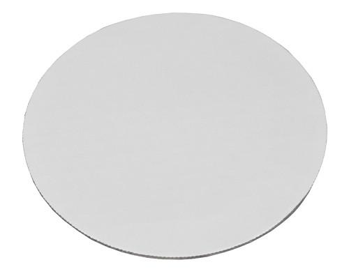 "9"" Round Greaseproof Coated Cake Circle Boards, Corrugated, Bright White (100/Case)"
