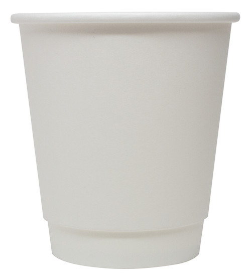 8 oz White Double Wall Paper Hot Cups (500/Case)