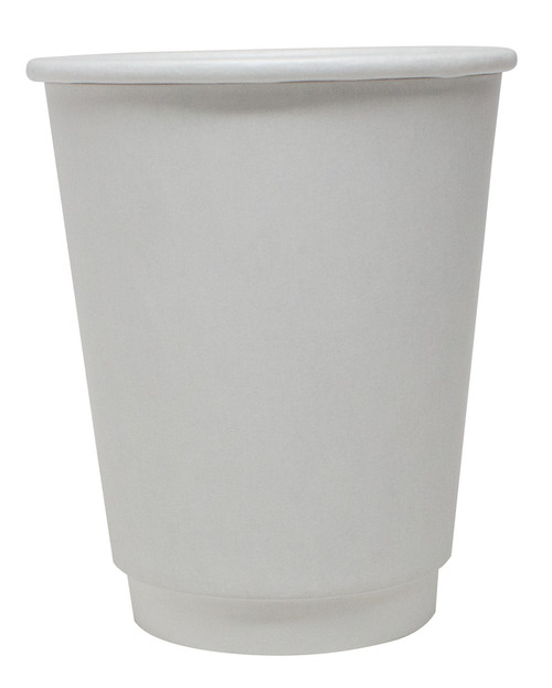 12 oz White Double Wall Paper Hot Cups (500/Case)
