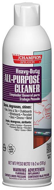Champion Sprayon Heavy Duty All Purpose Cleaner & Degreaser, Aerosol Spray, 18 oz (1/Each)