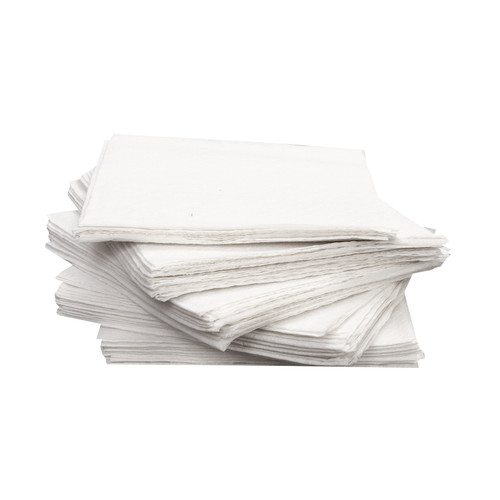 "White Beverage/Cocktail Napkins, 1 Ply 9x9"", 8 Packs of 500 (4000/Case)"