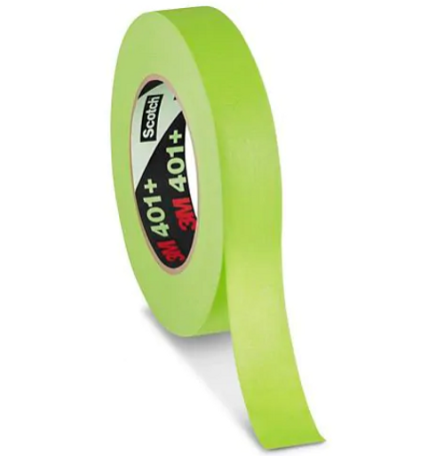 "3M 401+/233+ 1""x60 Yard High Temperature Green Painter's Tape (24/Case)"