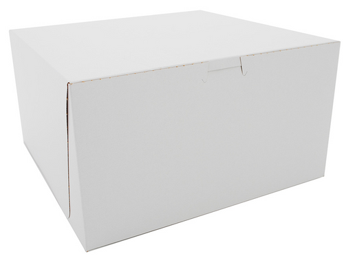 "12x12x5"" Cake/Bakery Box, White (100/Case)"