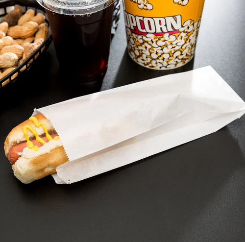 """3x.75x9"""" Grease Resistant Hot Dog Bag, White (2000/Case)"""
