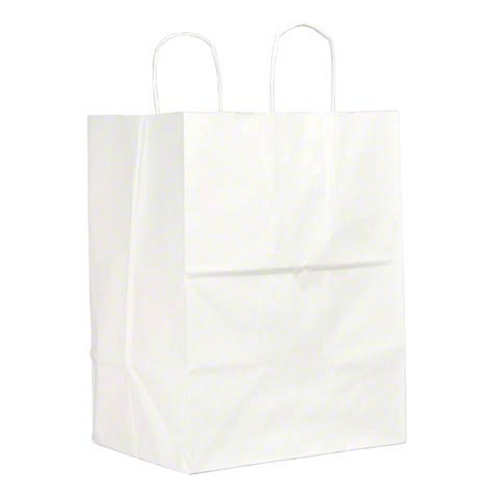 """12x9x16"""" Regal Rope Handle Paper Shopping Bags, White (200/Case)"""