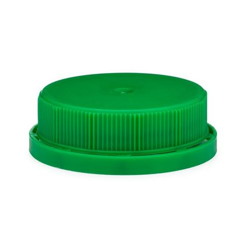 Green Milk Jug Bottle Caps, 38mm, Tamper Evident Ratchet Cap (108/Pack)