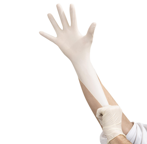 Latex Gloves, Powder Free, Textured, Large, 10 Boxes of 100 (1000/Case)