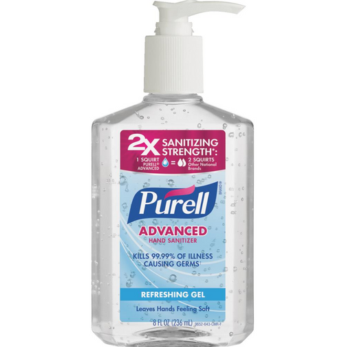Purell Advanced Hand Sanitizer Refreshing Gel, 8 oz with Pump (1/Each)