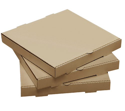 "12"" Plain Kraft Pizza Box (50/Case)"