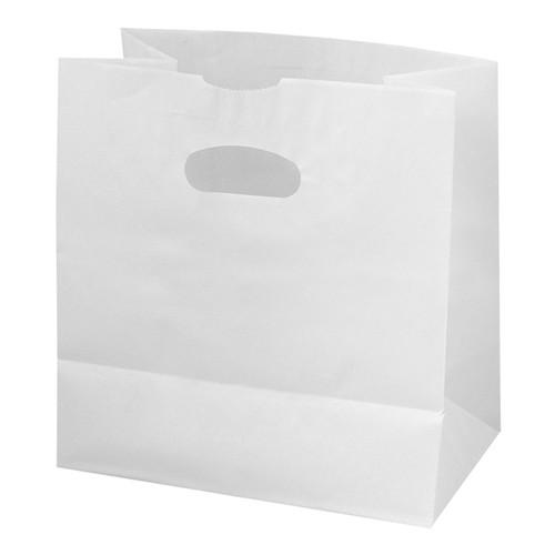 "Die Cut Paper Bags, 11x6x11"", White (500/Case)"