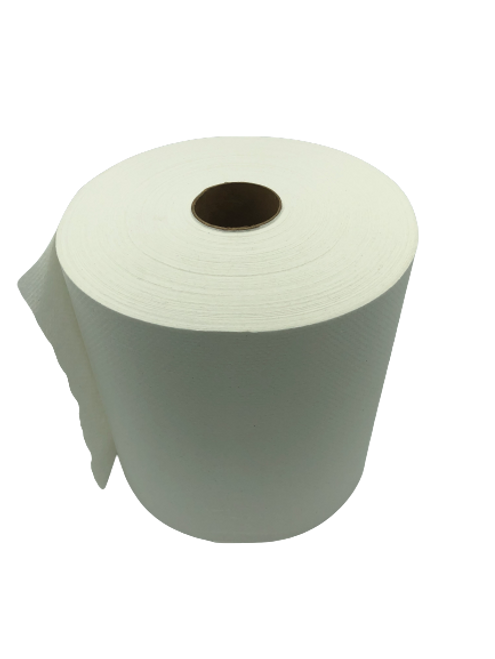 800' White Premium Heavy Hardwound Roll Paper Towel (6/Case)