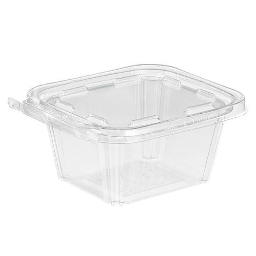 TS16 Inline Plastics 16 oz Tamper Evident Tear-Strip Container (240/Case)