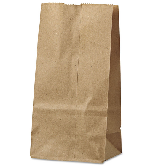 #6 Paper Grocery Bag Natural Kraft (500/Bundle)