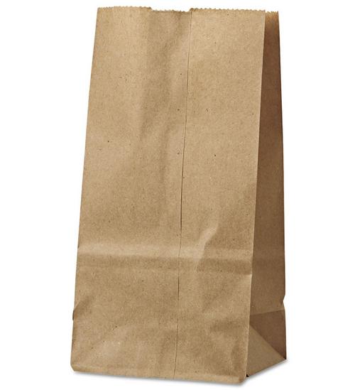 #8 Paper Grocery Bag Natural Kraft (500/Bundle)