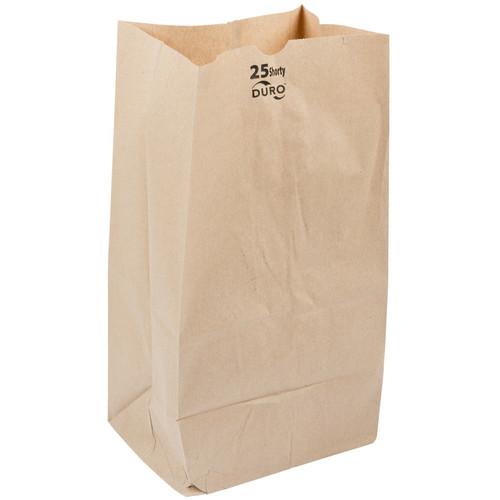 #25 Shorty Paper Grocery Bag Natural Kraft (500/Bundle)
