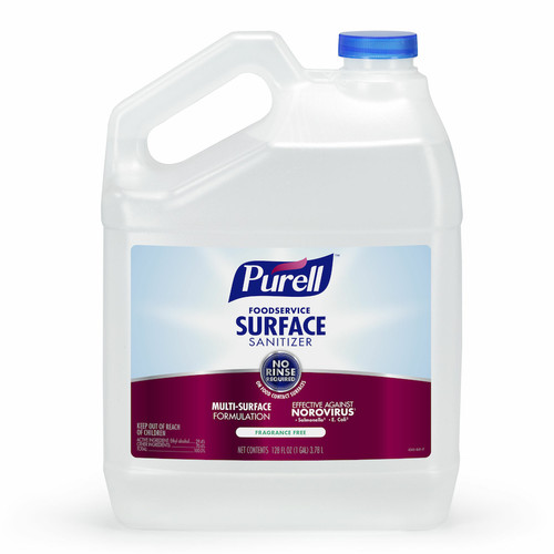 Purell 4341-04 Foodservice Surface Sanitizer, No-Rinse, 1 Gallon (4/Case)