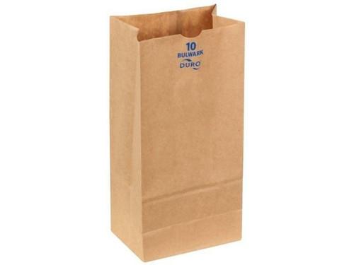#10 Bulwark X-Heavy Paper Grocery Bag Natural Kraft (400/Bundle)