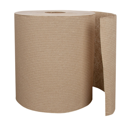 700' Natural Kraft Paper Towel Rolls (6/Case)