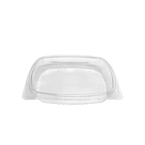 16 oz Shallow RPET Hinged Lid Deli Container (200/Case)