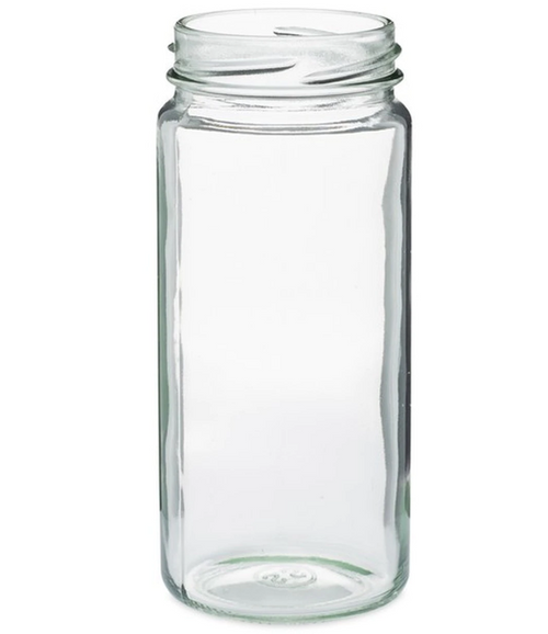 58-400 8 oz Clear Flint Glass Paragon Tall Jar (12/Case)