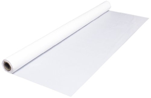 """White Plastic Table Cover Roll, 40""""x100' (1/Each)"""