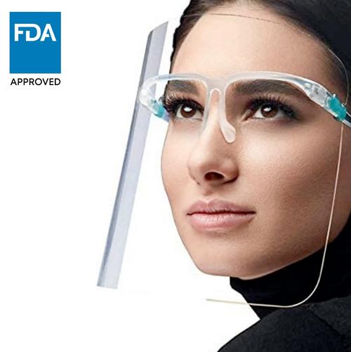 Face Shield Visor with Glasses Frame (50/Pack)