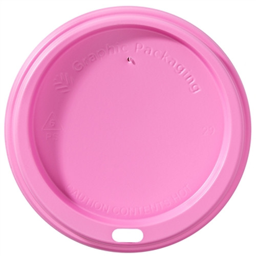 LHRDSP16 Pink Lid for 10-20 oz Paper Hot Cups (1200/Case)