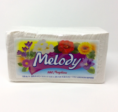 Melody Lunch Napkins, 18 Packs of 180 (3240/Case)