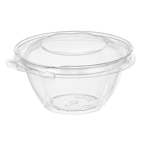 TS16RN Inline Plastics 16 oz Tamper Evident Tear-Strip Bowl (240/Case)