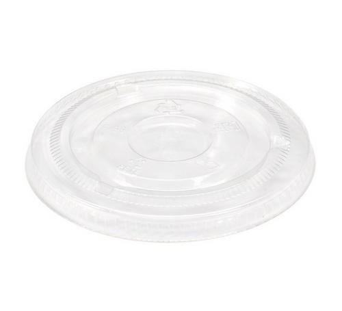 98mm No Hole Flat Lids for 12-24 oz Clear PET Cups (1000/Case)