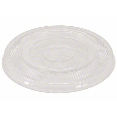 92mm Flat No Hole Lids for 9 oz Clear PET Cups (1000/Case)
