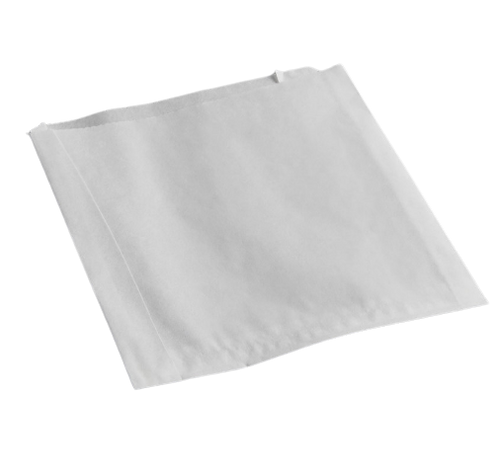 """#12 White 5x1.5x4.5"""" Grease Resistant Burger Bags (2000/Case)"""